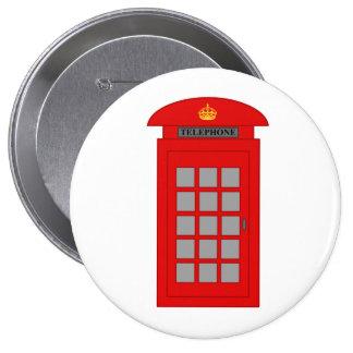 Cabina de teléfonos británica chapa redonda de 10 cm