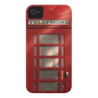 Cabina de teléfonos roja británica del vintage Case-Mate iPhone 4 funda