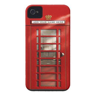 Cabina de teléfonos roja británica personalizada carcasa para iPhone 4 de Case-Mate