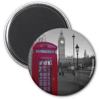 Cabina de teléfonos roja de Londres Iman Para Frigorífico