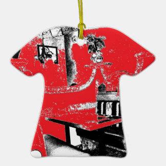 Cabina del restaurante en rojo ornamentos de reyes