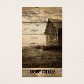 cabina vieja primitiva del cortijo del granero del tarjeta de visita