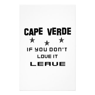 Cabo Verde si usted no lo ama, se va Papelería De Diseño