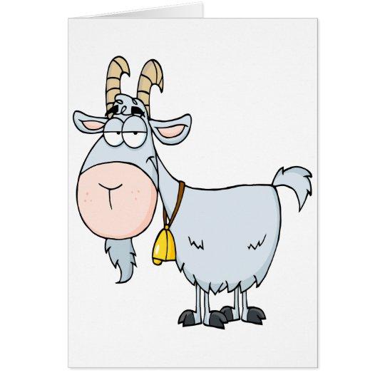 cabra de billy tonta del dibujo animado tarjeta de felicitación