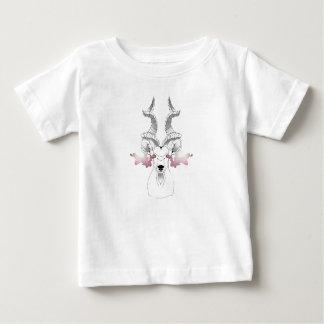 Cabra de la galaxia camiseta de bebé