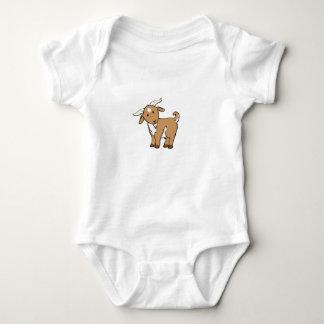 cabra marrón linda body para bebé