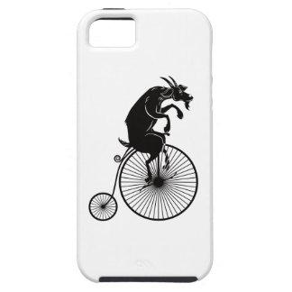 Cabra que monta una bici del comino del penique funda para iPhone SE/5/5s