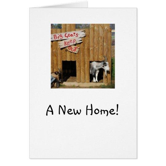 """Cabras """"de la nueva"""" casa que se calientan casera tarjeta de felicitación"""