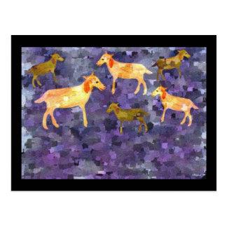 Cabras en la postal del campo