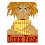 Cacerola del Fest del jazz Tarjeta Postal
