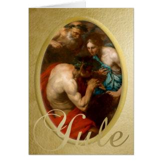 Cacerola - la lección de música - tarjeta de Yule