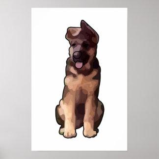 Cachorrito de la O.N.U de la soja Poster