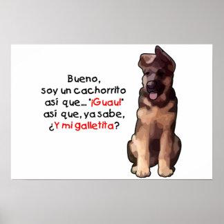 Cachorrito de la O N U de la soja Poster