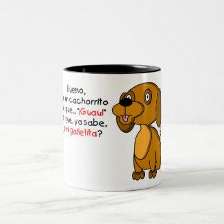 Cachorrito de la O N U de la soja Tazas De Café