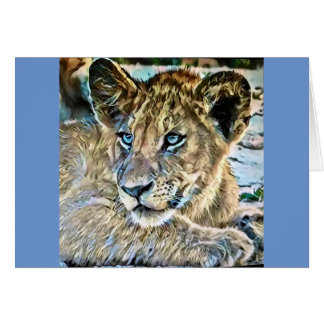 Cachorro de león tarjeta de felicitación
