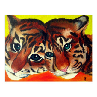 Cachorros de tigre postal