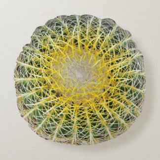 Cactus botánico incómodo divertido del globo cojín redondo