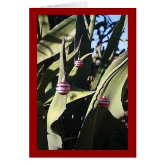 Cactus del árbol de navidad tarjeta de felicitación
