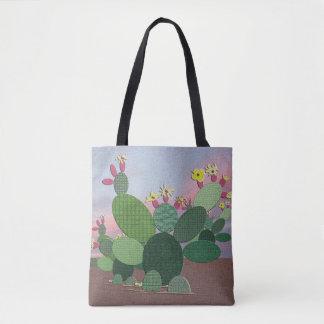Cactus del calicó por todo la bolsa de asas