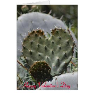 Cactus del el día de San Valentín Tarjeta De Felicitación