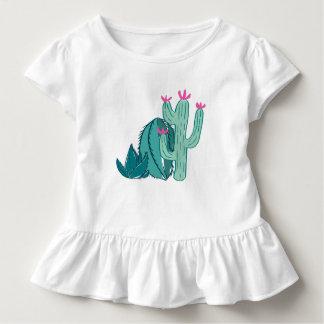 Cactus lindo del rosa y del verde camiseta de bebé