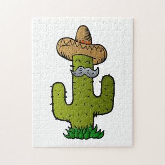 cactus mexicano con el bigote puzzle