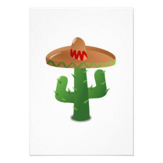 Cactus mexicano anuncio personalizado