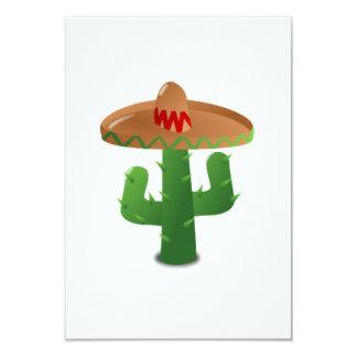 Cactus mexicano invitación 8,9 x 12,7 cm