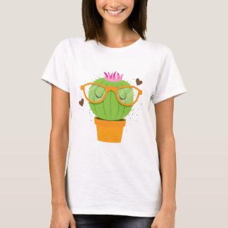 cactus nerdy lindo camiseta