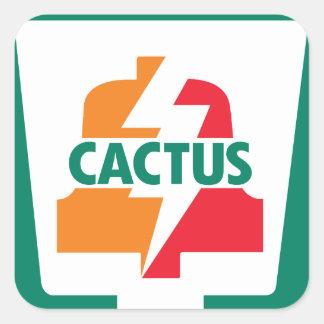 Cactus once Bell 1 diseñada por Robitussin Pegatina Cuadrada