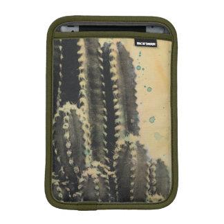 Cactus verde en fondo amarillo funda para iPad mini
