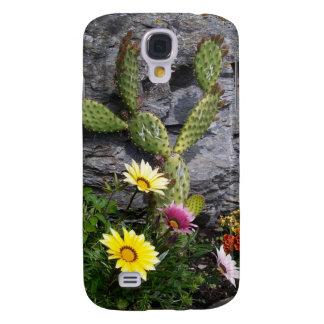 Cactus y flores samsung galaxy s4 cover