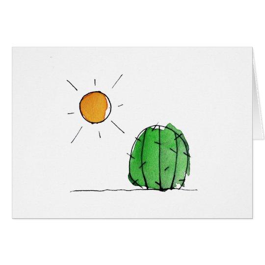 Cactus y tarjetas de nota lindos de la acuarela de