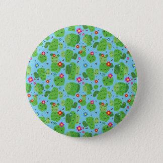 Cactus yo botón del exterior (azul) -