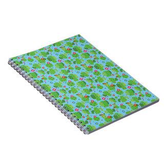 Cactus yo cuaderno del exterior (azul) -