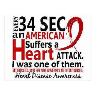 Cada 34 segundo me enfermedad cardíaca/ataque postal