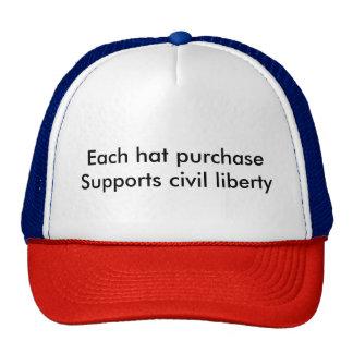 Cada compra del gorra apoya libertad civil