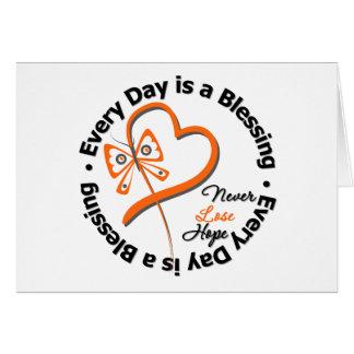 Cada día es una bendición - espere la leucemia tarjeta de felicitación