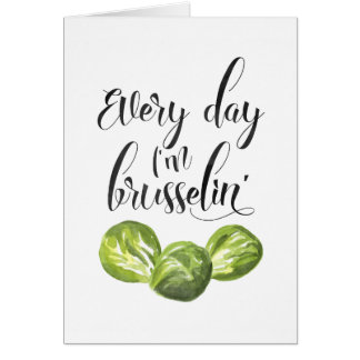 Cada día soy Brusselin, tarjeta de nota del