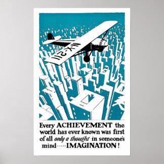 Cada logro comienza con… ¡IMAGINACIÓN! Posters