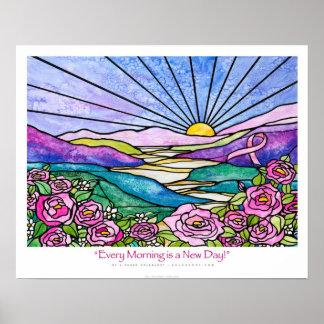 """""""Cada mañana es cinta Ekleberry del rosa de un nue Poster"""
