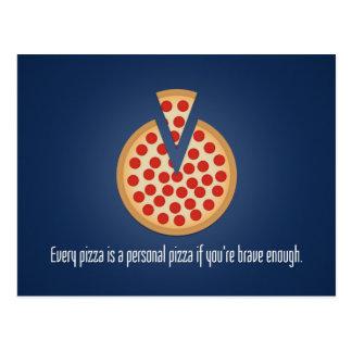 Cada pizza es una pizza personal postal