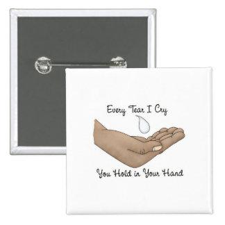 Cada rasgón lloro usted asimiento en su mano pin