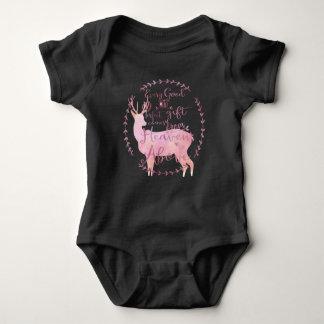 Cada regalo bueno y perfecto viene de cielo arriba body para bebé