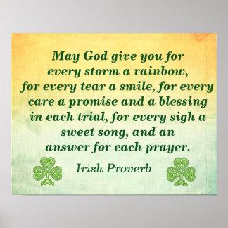 Cada tormenta -- Cita del irlandés -- Impresión
