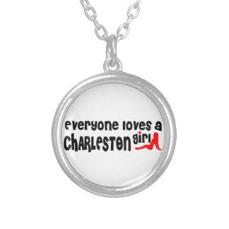 Cada uno ama a un chica de Charleston Colgante Redondo