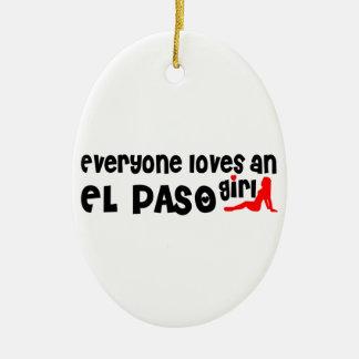 Cada uno ama a un chica de El Paso Adorno Ovalado De Cerámica