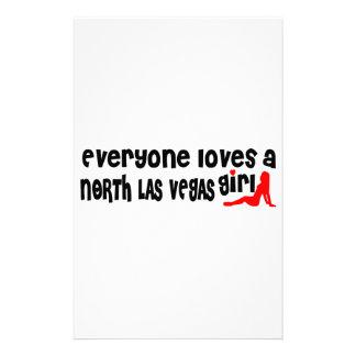 Cada uno ama a un chica de Las Vegas del norte Papelería Personalizada