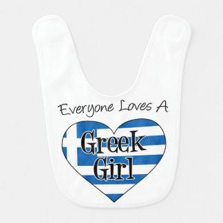 Cada uno ama un babero griego del chica