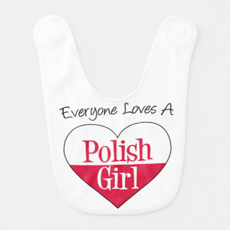 Cada uno ama un babero polaco del chica